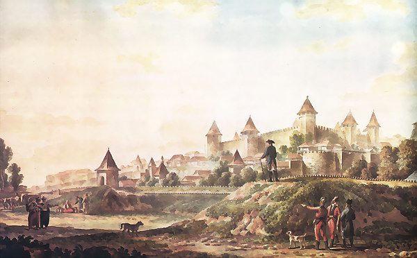 М. М. Иванов. Вид крепости в Бендерах (1790)
